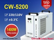 Recirculating Water Chiller CW5200 for 130W co2 laser cutting machine